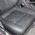 The car had perforated leather and the 3 days of rain water soaked the seats and saturated the foam cushion